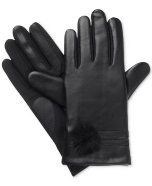 Isotoner Signature Women's SleekHeat smarTouch Pom-Pom Gloves