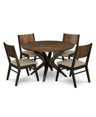 ashton round pedestal dining furniture 5pc set round pedestal dining table