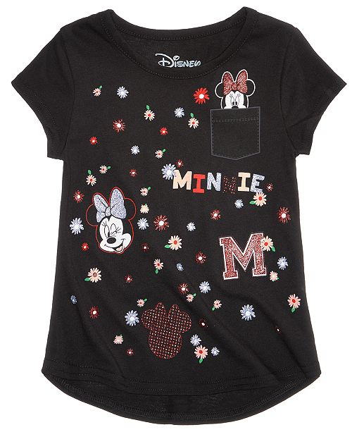 d9921dd6d6f89 Disney Minnie Mouse Cotton T-Shirt, Little Girls & Reviews - Shirts ...