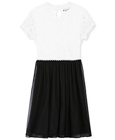 Speechless Embellished-Waist Party Dress, Big Girls