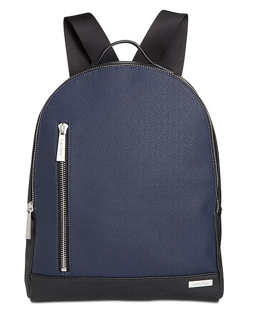 9601eb824ad Calvin Klein Men's Saffiano Leather Backpack & Reviews - Bags ...