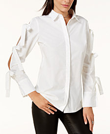 Glam by Glamorous Tied-Sleeve Shirt, Created for Macy's