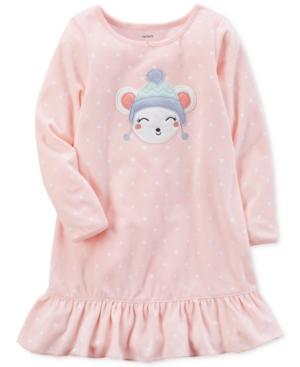 Carters DotPrint Mouse Nightgown Little Girls (46X)  Big Girls (716)