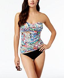 Lauren Ralph Lauren Cabana Paisley Tummy Control Strapless Tankini Top & Bottoms