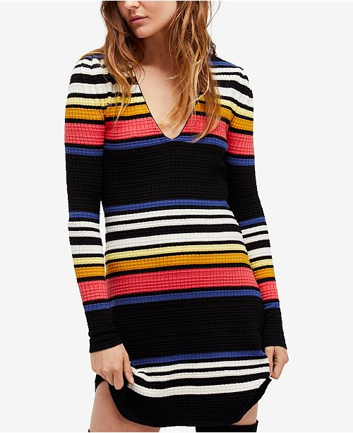 7ed2c0e78e5 Free People Gidget Striped Sweater Dress   Reviews - Dresses ...