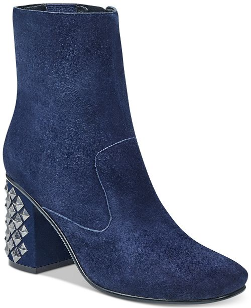GUESS Women s Madeup Studded Block-Heel Booties - Boots - Shoes - Macy s 6872c7cee8