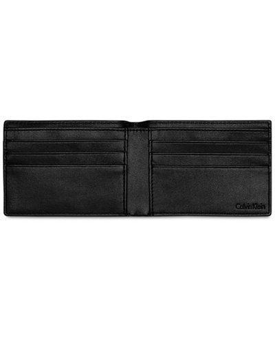 Calvin Klein Men's Textured Leather Slimfold Wallet