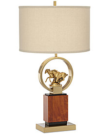 Pacific Coast Running Horses Table Lamp