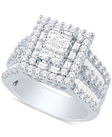 Diamond Ring (3 ct. t.w.) in 14k Gold or White Gold
