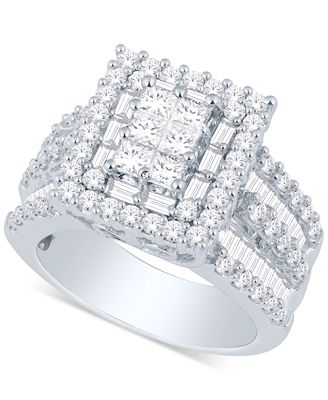 Macy S Diamond Ring 3 Ct T W In 14k Gold Or White Gold Rings