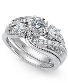 Diamond Swirl Bridal Set (1 ct. t.w.) in 14k White Gold
