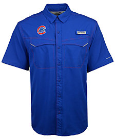 Columbia Men's Chicago Cubs Low Drag Short Sleeve Shirt