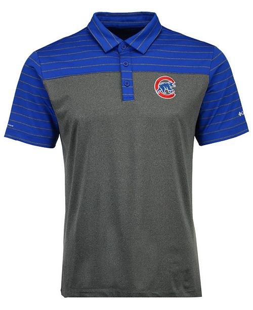 Columbia Men's Chicago Cubs Omni-Wick Groove Polo
