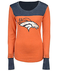 Touch By Alyssa Milano Women's Denver Broncos Blindside Thermal Long Sleeve T-Shirt