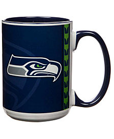 Seattle Seahawks 15oz Super Fan Inner Color Mug