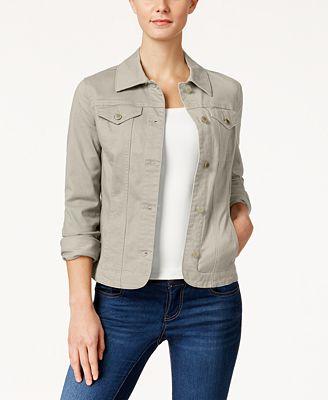 Charter Club Denim Jacket Created For Macy S Jackets Women Macy S