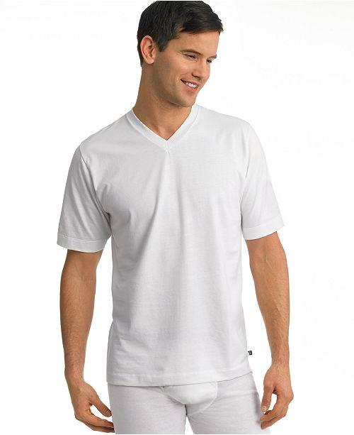 Jockey men's tagless staycool big man v-neck Undershirt 2-pack