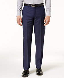 Ryan Seacrest Distinction™ Men's Modern-Fit Navy Birdseye Pants, Created for Macy's