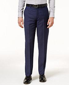 Ryan Seacrest Distinction™ Men's Modern-Fit Navy Birdseye Pants, Created for Macy's