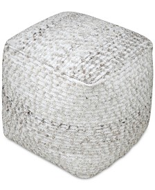 Valda Wool Pouf, Quick Ship