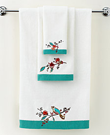 "Lenox Simply Fine Bath Towels, Chirp Embroidered 27"" x 50"" Bath Towel"