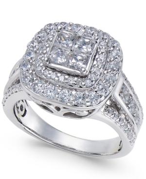 Diamond Halo Quad Ring...