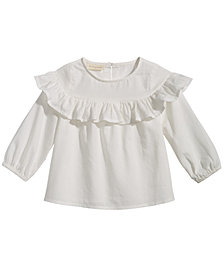First Impressions Cotton Flounce Top, Baby Girls, Created for Macy's