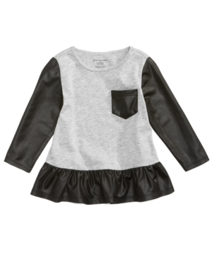First Impressions FauxLeather Glam Tunic Baby Girls (024 months) Created for Macys