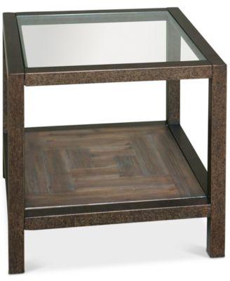 Carter Bronze U0026 Glass End Table, Quick Ship