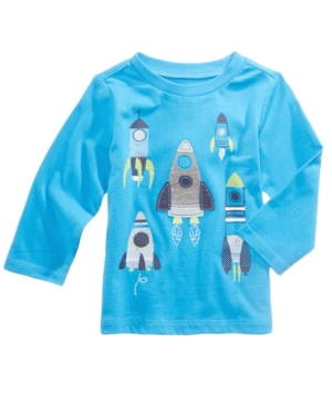 First Impressions RocketsPrint Cotton TShirt Baby Boys (024 months) Created for Macys