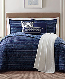 Jennifer Adams Home Penbrook Reversible 7-Pc. Printed Comforter Sets