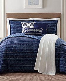 Jennifer Adams Home Penbrook Reversible 7-Pc. Printed Full/Queen Comforter Set