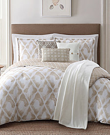 Jennifer Adams Home Kennedy Reversible 7-Pc. Geo-Print King Comforter Set