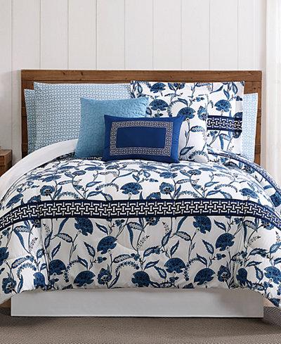 Danica 12-Pc. Floral-Print Queen Comforter Set