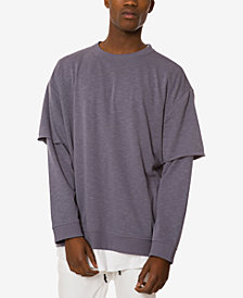 Jaywalker Men's Layered Oversized Sweatshirt