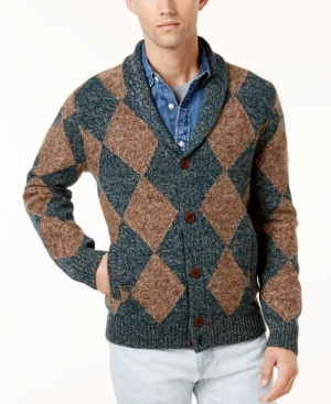 Men's Vintage Style Sweaters – 1920s to 1960s Tommy Hilfiger Mens Shamus Shawl-Collar Cardigan Sweater $67.53 AT vintagedancer.com