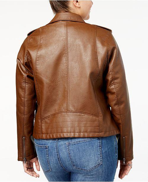 c7170d5185f Levi s Plus Size Faux-Leather Moto Jacket   Reviews - Jackets ...