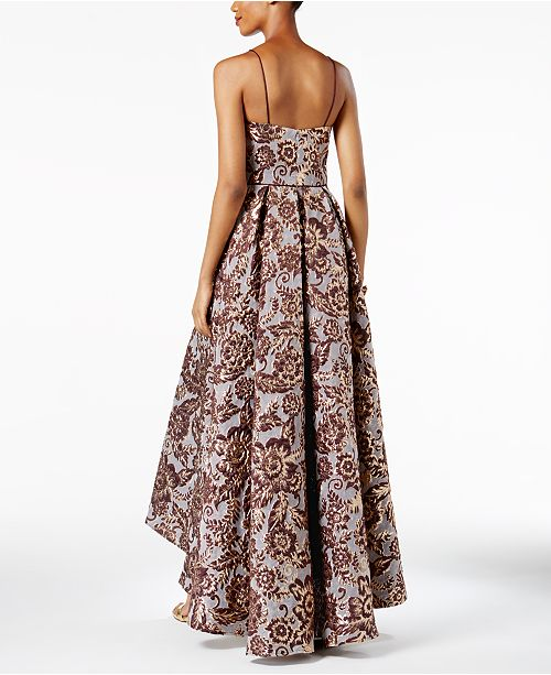 Betsy & Adam Floral Brocade High-Low Gown - Dresses - Women - Macy\'s