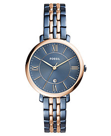 Fossil Women's Jacqueline Two-Tone Stainless Steel Bracelet Watch 36mm