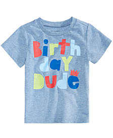 First Impressions Birthday-Print T-Shirt, Baby Boys, Created for Macy's