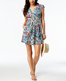 Lauren Ralph Lauren Cabana Cotton Paisley Farrah Dress Cover-Up