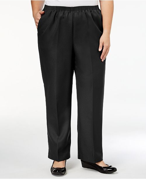 94cd4e24956f1 Alfred Dunner Classic Plus Size Pull-On Straight-Leg Pants - Pants ...