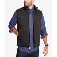 Weatherproof Vintage Mens Quilted Full-Zip Stand-Collar Vest