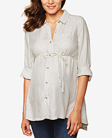 Motherhood Maternity Striped Blouse