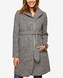 Motherhood Maternity Belted Coat