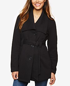 Motherhood Maternity French Terry Belted Coat