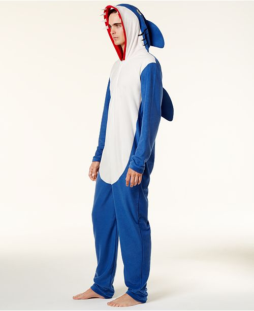 Bioworld Men s Shark Onesie Costume - Pajamas 77f2c4c03c6e