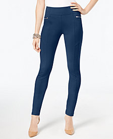 I.N.C. Skinny Moto Pants, Created for Macy's