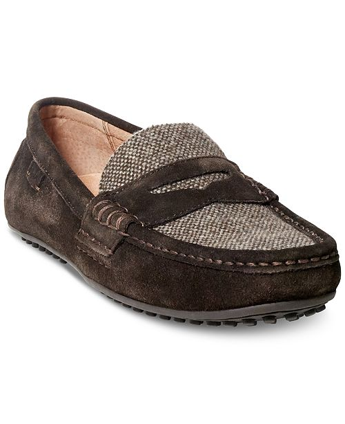 ded2dd2dd00 Polo Ralph Lauren Men s Wes Suede-Tweed Drivers   Reviews - All ...