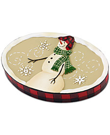 CLOSEOUT! Avanti Snowman Gathering Soap Dish